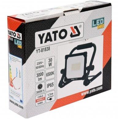 Nešiojama darbo LED lempa 10W 900LM YATO 3