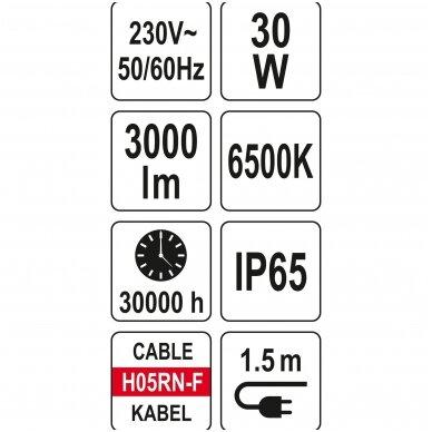 Nešiojama darbo LED lempa 10W 900LM YATO 6