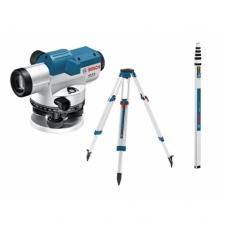 Optinis nivelyras Bosch GOL 26 D Professional + stovas BT160 + liniuotė GR500