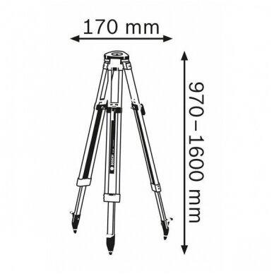 Optinis nivelyras GOL 32 D Professional + stovas + liniuote 7