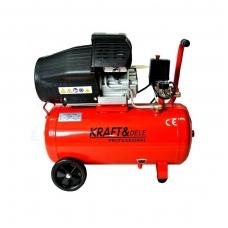 Oro kompresorius 2 cilindrai 50L Kraft&Dele