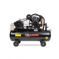 Oro kompresorius diržinis, trifazis 100L, 4kW 650l/min, TZL-V650/12.5