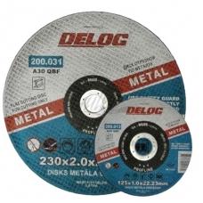 Pjovimo diskas metalui 230x2,0x22,23mm DELOG