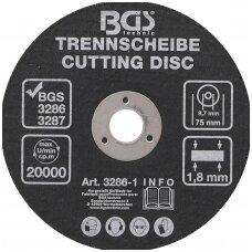 Pjovimo diskas pneumatiniam diskiniam pjovikliui  Ø 75 x 1,8 x 9,7mm BGS