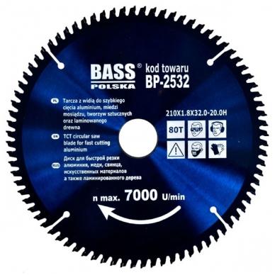 Pjovimo diskas aliuminiui Ø210mm BASS