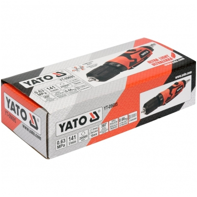 Pneumatinis gręžtuvas tiesus 10mm YATO 4
