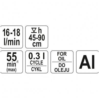 Pompa kurui iš statinės su svertu YATO 3