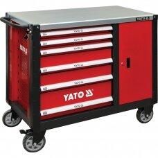 Profesionali įrankių spintelė su ratukais YATO