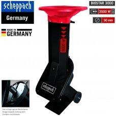 Profesionalus elektrinis šakų smulkintuvas (trifazis) Scheppach Biostar 3000