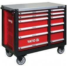 Profesionalus vežimėlis įrankiams su 12 stalčių XL