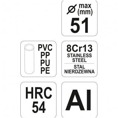 PVC vamzdžių pjoviklis max. 51mm YATO 4