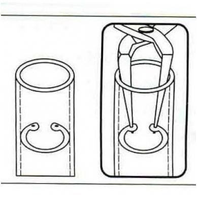 Replės suportų žiedams 90° laipsnių 165mm (vidiniams žiedams) 2