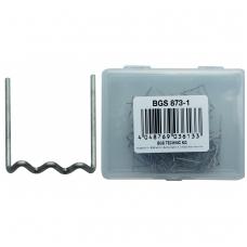 Sąvaržėlės plastiko remonto įrangai U formos, 0.6 mm, 100 vnt