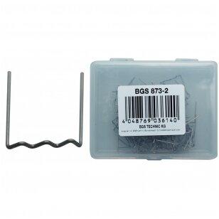 Sąvaržėlės plastiko remonto įrangai U formos, 0.8 mm, 100 vnt