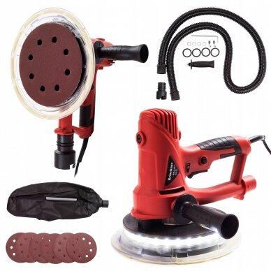 Sienų ir lubų šlifavimo mašinėlė LED 2200W BLACK 4