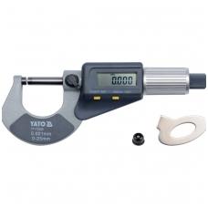 Skaitmeninis mikrometras 0-25mm YATO