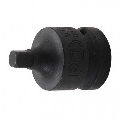 """Smūginis adapteris vidinis kvadratas 1/2"""" - išorinis kvadratas 1/4"""" BGS-Technic"""