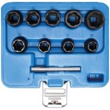 """Specialus galvučių rinkinys 10mm (3/8"""") 10-19 mm  10 vnt."""