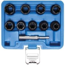 """Specialus galvučių rinkinys 12,5mm (1/2"""") 10-19mm 10 vnt."""