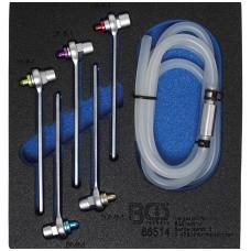Stabdžių nuorinimo įrankių rinkinys su atbuliniu vožtuvu 7-8-9-10-11mm 6 vnt.
