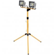 Statybinis šviestuvas su stovu COB LED 2x20W