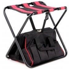 Sudedama kėdutė su įrankių krepšiu ir kišenėmis YATO