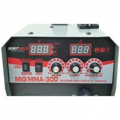 Suvirinimo pusautomatis inverterinis 2in1 MIG+MMA 300A Gebot Weld 4