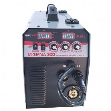 Suvirinimo pusautomatis inverterinis 2in1 MIG+MMA 300A Gebot Weld 3