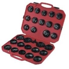 """Tepalo filtro raktų rinkinys, lėkštelės su reguliuojamu trikoju raktu, 30 vnt, """"Stahlberg"""""""