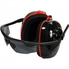 Triukšmo mažinimo ausinės su integruotais akiniais