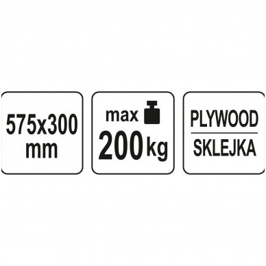 Transportavimo vežimėlis / platforma 575x300 mm iki 200 kg 4