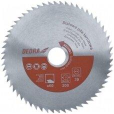 Universalus diskas minkštos ir kietos medienos pjovimui skerisniam ir išilginiam pjūklui 500x30mm DEDRA
