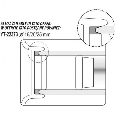Vamzdelių kalibratorius su šerpetų šalinimu 16, 20, 26 mm 5