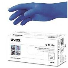Vienkartinės apsauginės pirštinės UVEX U-FIT LITE 100vnt. L-dydis