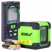 Žalias lazerinis nivelyras + atstumo matuoklis 40m DEDRA MC0920